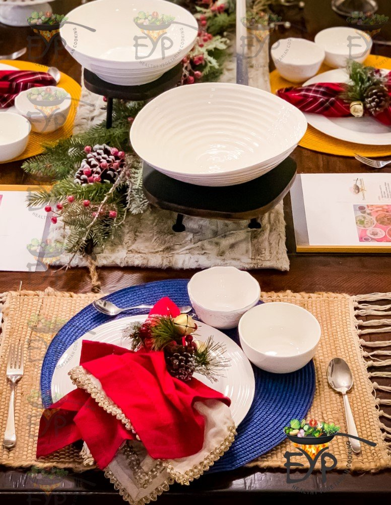 Christmas Table Dinnerware and Server ware