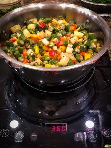 Bhindi Masala being cooked during Indian Culinary Experience