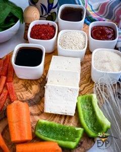 Sauce ingredients for Japchae