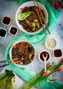 Japchae - Vegan & Gluten Free Korean Glass Noodles - Recipe from Enhance Your Palate