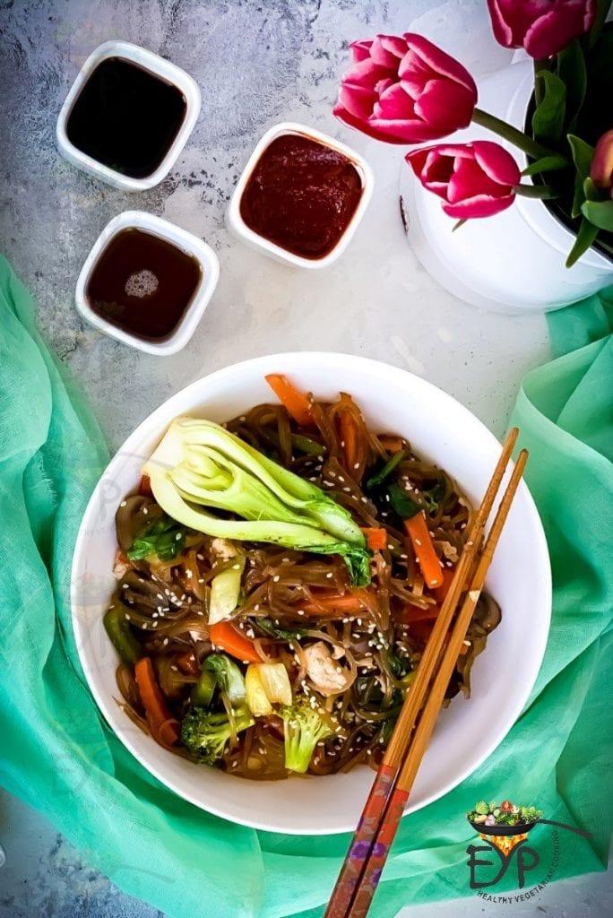 Japchae - Vegan & GF Korean Glass Noodles