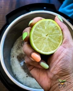 few lemon drops being added to the recipe