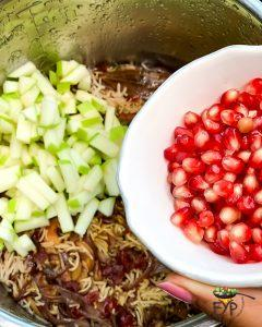Pomegranate being added