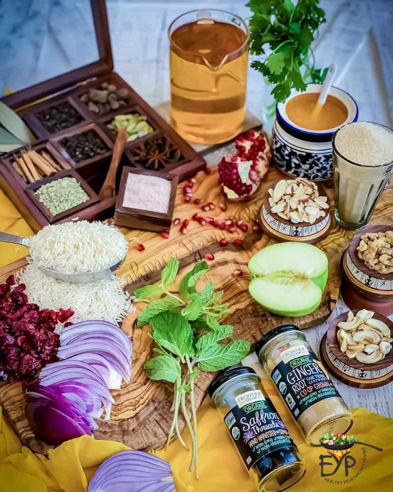 Kashmiri Pulao Ingredients