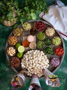 Ingredients for Makhana Bhel or Bhelpuri - Gluten & Soy Free Vegan Foxnut Indian Salad