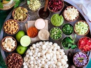Ingredients for Makhana Bhel or Bhelpuri