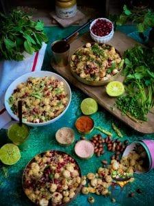 Spices with Makhana Bhel or Bhelpuri - Gluten & Soy Free Vegan Foxnut Indian Salad