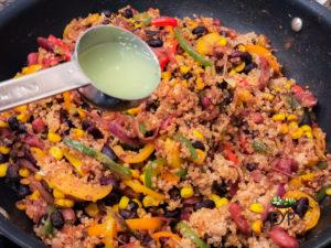 Mexican Quinoa Recipe with beans and vegetables