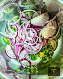 Adding onion to mexican quinoa recipe