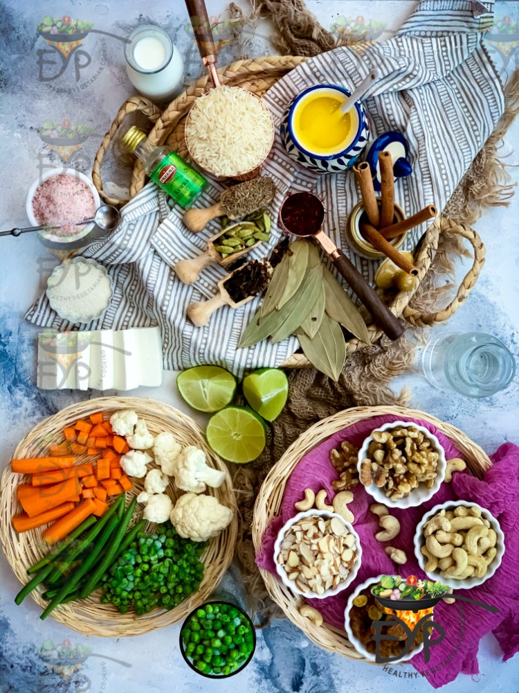 Ingredients used in Navratan Pulao