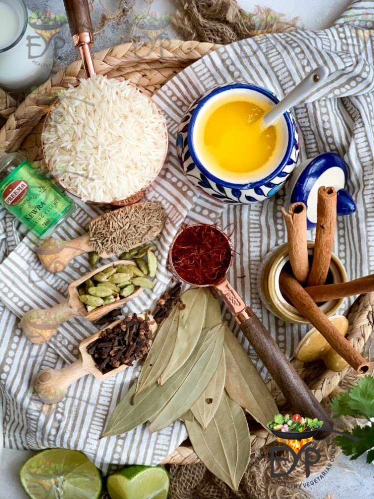 Ingredients for Navratan Pulao