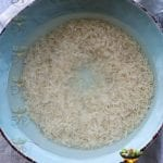 RIce being soaked