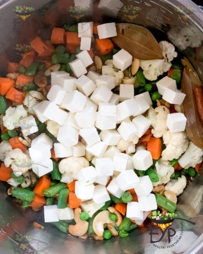 Added paneer to pot