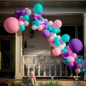 12ft air-filled baloon garland