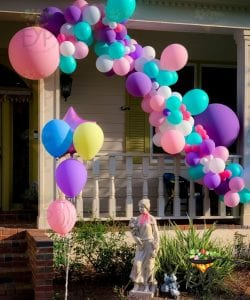 Baloon decorations for birthday party