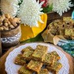 Peanut Til Makhana Burfi (Peanut Sesame and Fox Nut Fudge)