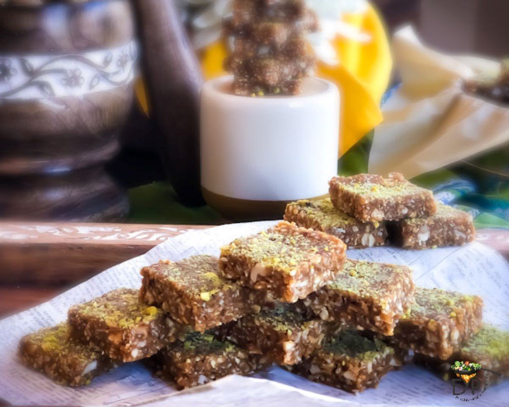 Peanut Til Makhana Burfi (Peanut Sesame and Fox Nut Fudge)