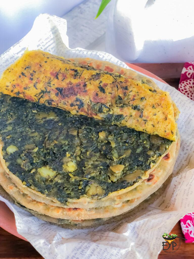 Perfectly_Filled_Bathua aloo Parantha from Enhance Your Palate