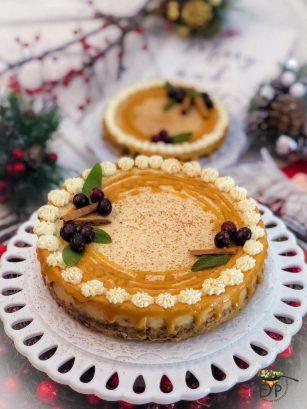 Pumpkin Spice Eggless Cheesecake
