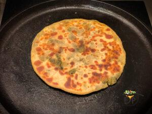 Stuffed Paratha Roasting Step Image from Enhance Your Palate