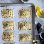 puff pastry with sprinkled seasme seeds