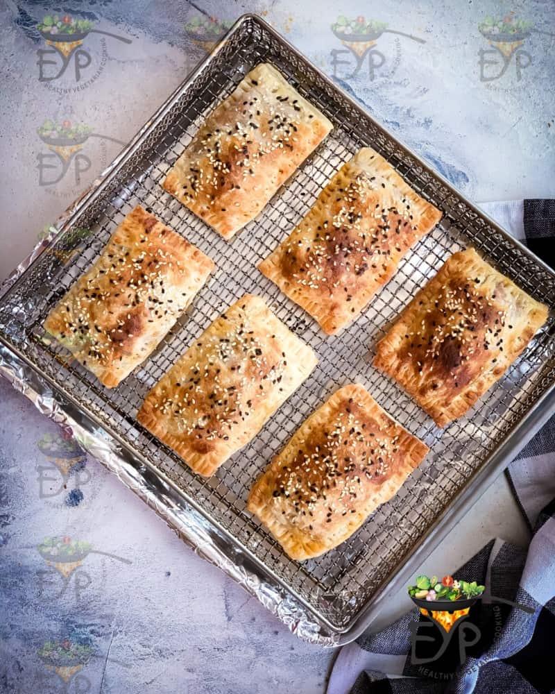 Air-fried curry puffs