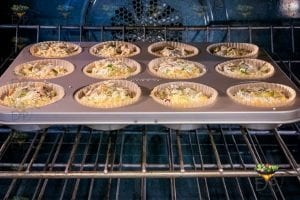 muffins being baked in oven