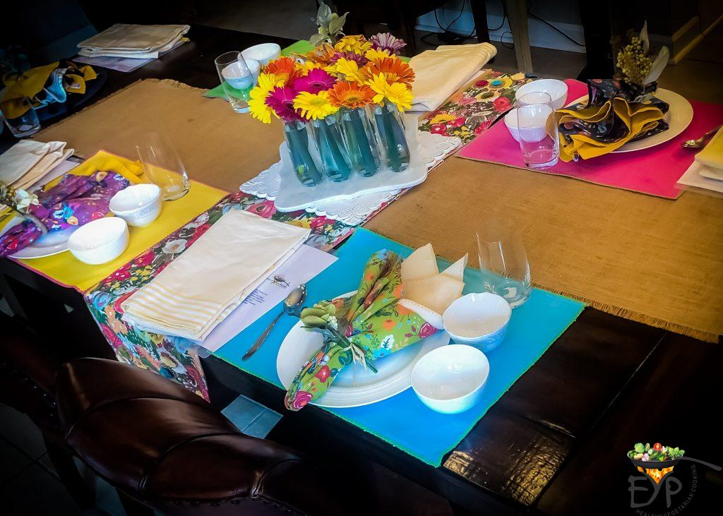 Overall Table Setting for Indian Culinary Experience Session II