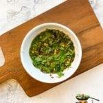 Cilantro Basil lime simple thai sauce