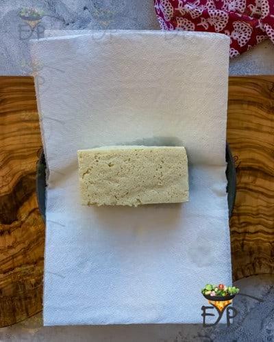 Squeezed tofu