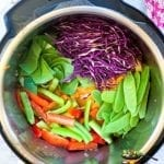 Vegetables being added
