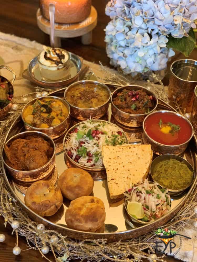 Dal-bati-churma authentic Rajasthani thali for Thanksgiving dinner